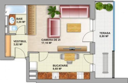 Planuri apartament 2 camere