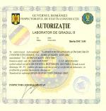Autorizatie Laborator Euro Quality Test