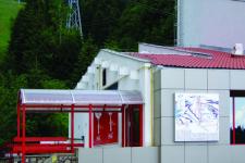 Uși automate și copertină policarbonat