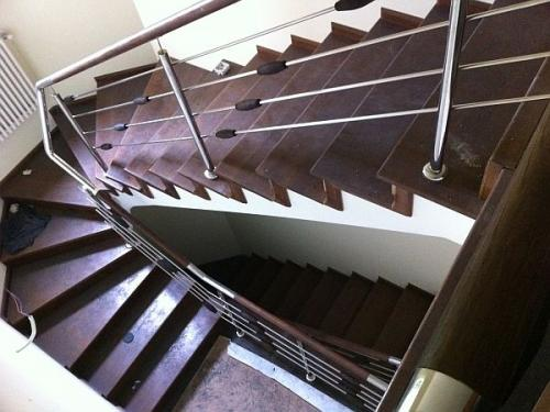 Balustrade inox scari interioare