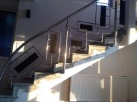 Balustrada inox-lemn
