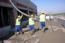 Aplicare beton de panta