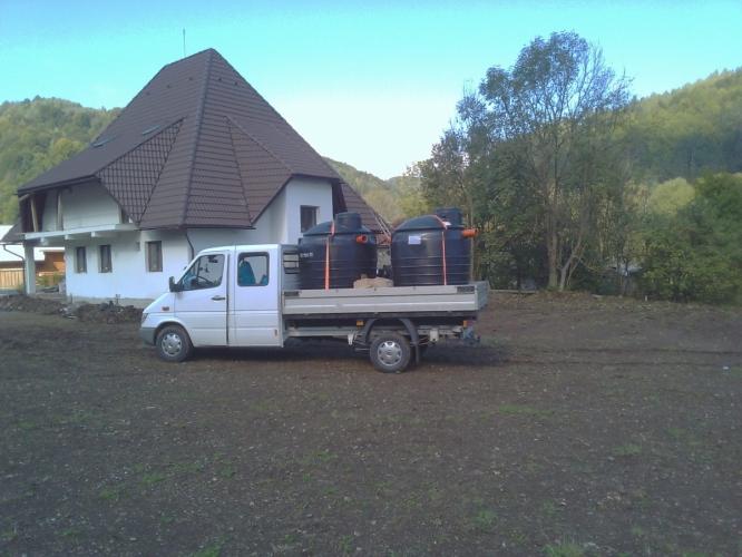 Transport si montaj fose septice