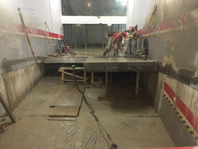 Demolare controlata parcare subterana