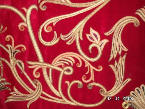 Material pluș cortine