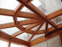 Inchidere terasa din structura lemn