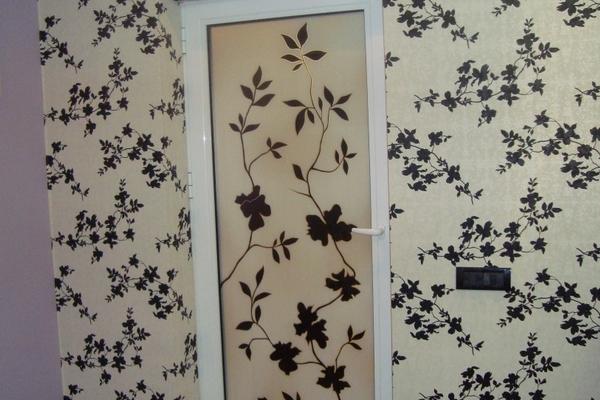 Uși termopan decorative