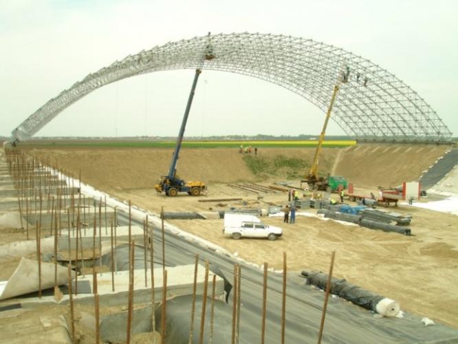 Proiectare structuri metalice acoperire depozit deșeuri Slobozia