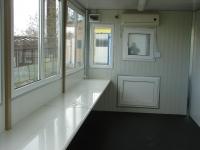 Interior cabină organizare șantier