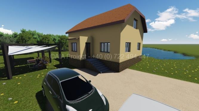 Proiect casa parter cu mansarda Petunia P+M