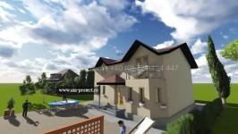 Proiect casa parter cu etaj P+1 Begonia