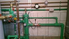 Montare centrala termica complexa