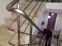 Montaj balustrada rotunda aluminiu