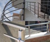 Balustrade rectangulare din aluminiu