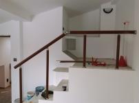 Montaj balustrada rotunda imitatie lemn