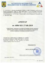 Certificare ANRE pentru instalatii electrice
